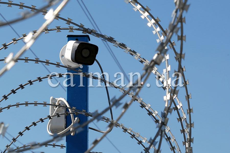Die Ingenieurabsperrung und die Videoüberwachung