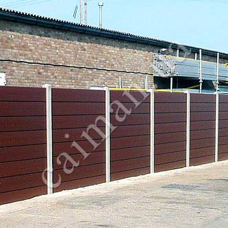 Забор из пластиковой террасной доски, декинга ПВХ