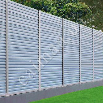 Забор шумозащитный Synox, шумозащитные панели из пластика
