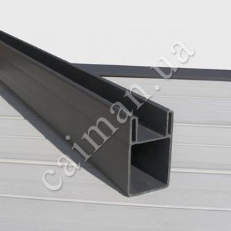 Пластиковый профиль ПВХ для монтажа террасной доски, декинга