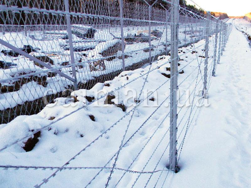 Забор из колючей провлоки Егоза