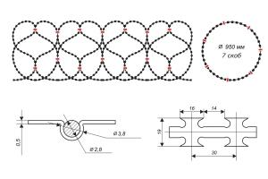 Чертеж спирального барьера Егоза-Кайман 950/7