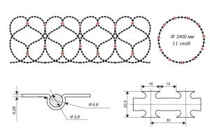 Чертеж спирального барьера Егоза-Супер 2400/11