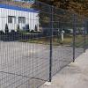 Забор из плетеной сетки рабица